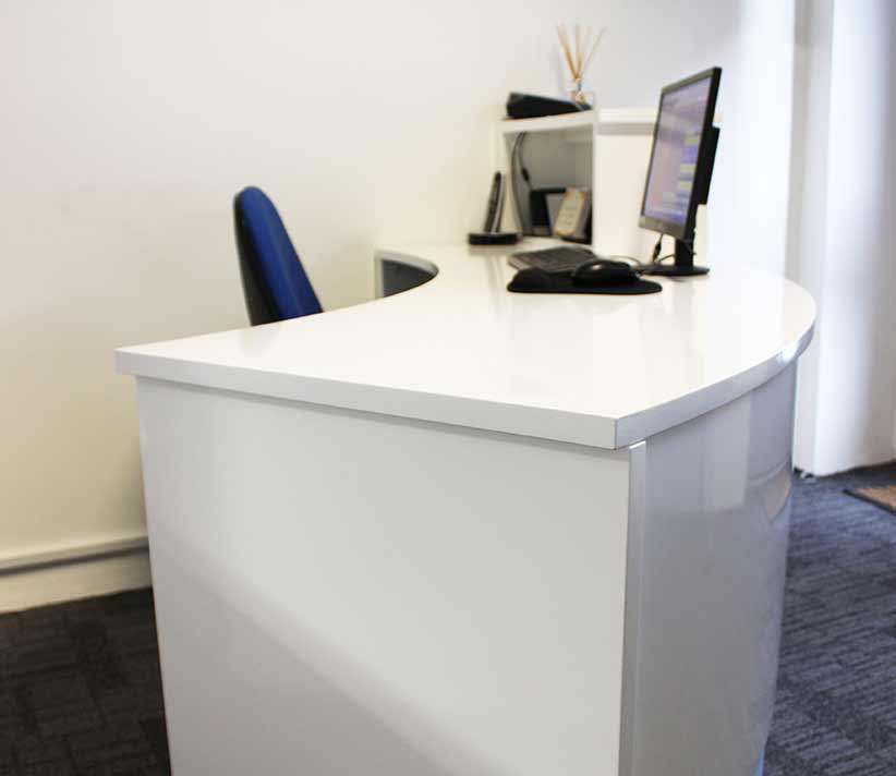 Curved Reception Desk, Newcastle Physiotherapy
